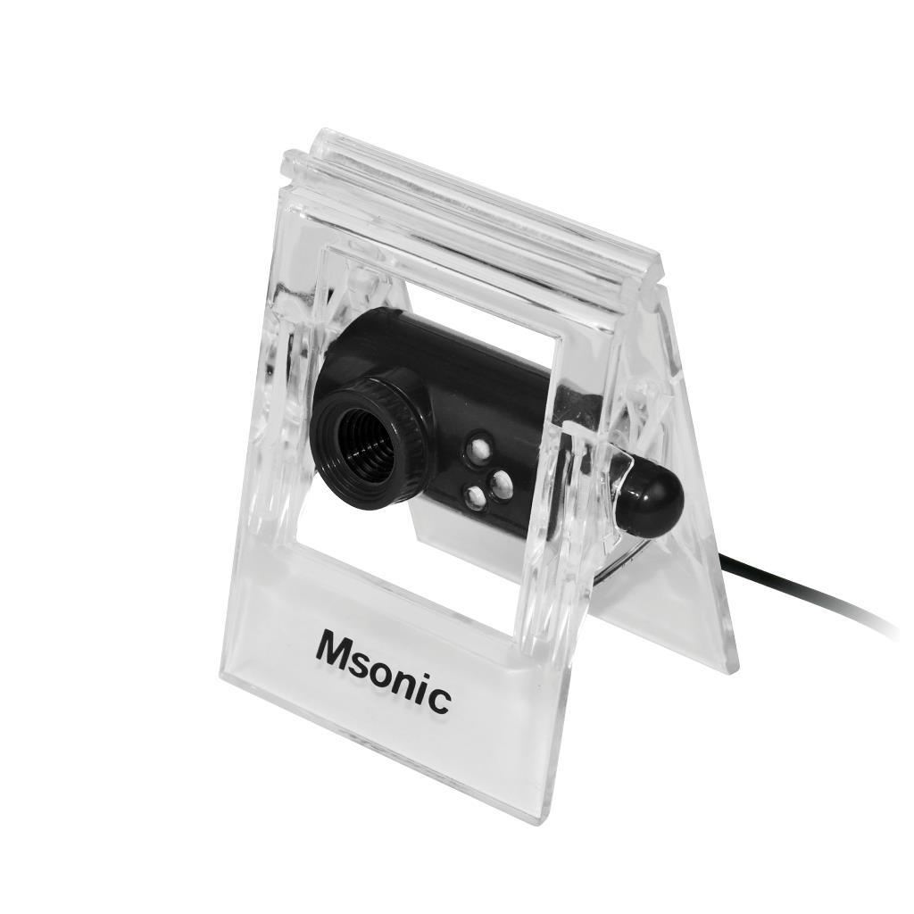 MSONIC webová kamera s mikrofonem USB 2.0, 3 led, MR1803K černá