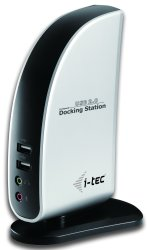 i-Tec USB 2.0 Docking Station s DVI Video (+ VGA ) (Port replicator)+LAN+Audio