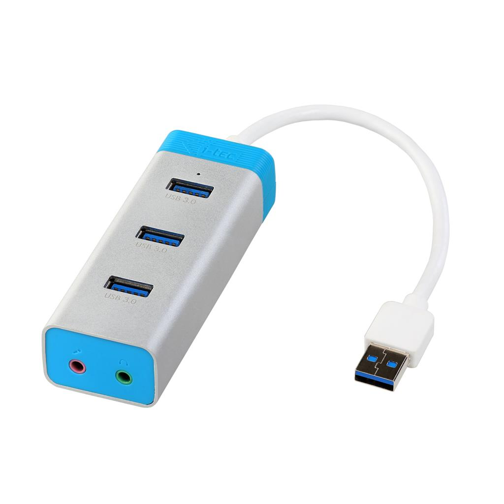 i-tec USB 3.0 Metal HUB 3 Port with Audio Adapter, Notebook Ultrabook Tablet