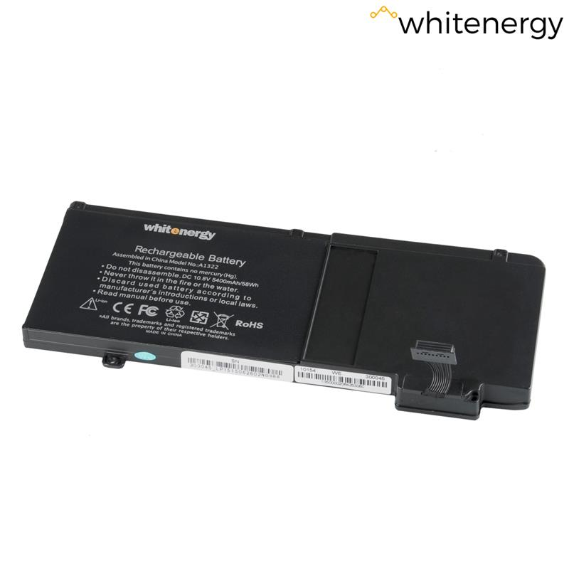 Whitenergy Premium baterie pro Apple MacBook A1322 10.8V Li-Ion 5400mAh černá
