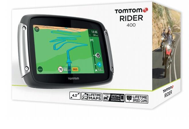 TomTom RIDER 400 Lifetime motocyklová navigace, 4.3'' (CZ/SK)