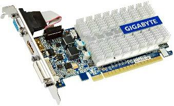 Gigabyte GeForce 210, 1GB DDR3 (64 Bit), HDMI, LP, DVI, D-SUB, BOX