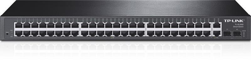 TP-Link TL-SL2452 Smart Switch 48x10/100 +2x Gbit RJ45 +2x Gbit SFP