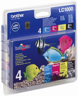 Brother Value pack (1xLC1000BK, 1xLC1000Y, 1xLC1000M, 1xLC1000C)