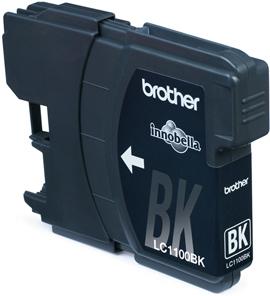 Inkoustová náplň Brother černá LC1100BK