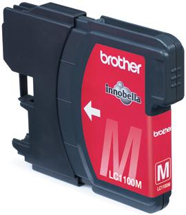 Inkoustová náplň Brother magenta LC1100M 325str.