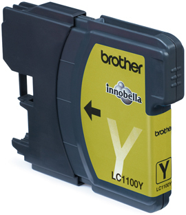 Inkoustová náplň Brother yellow LC1100Y 325str.