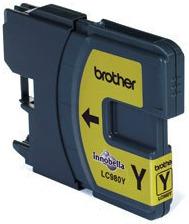 Inkoustová náplň Brother yellow LC980Y