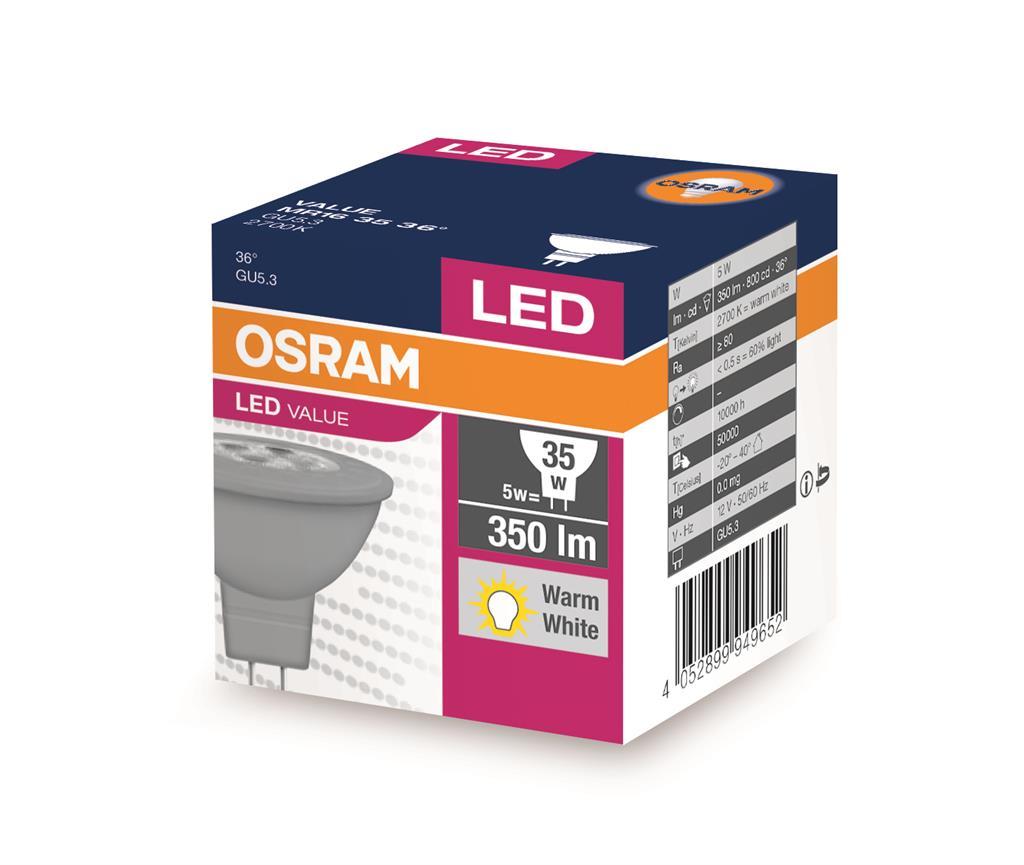 OSRAM PARATHOM MR16 5W/827 12V GU5.3 FS1