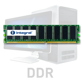 INTEGRAL 2GB (Kit 2x1GB) 400MHz DDR CL3 R2 DIMM 2.5V