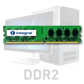 INTEGRAL 2GB (Kit 2x1GB) 533MHz DDR2 CL4 R1 DIMM 1.8V