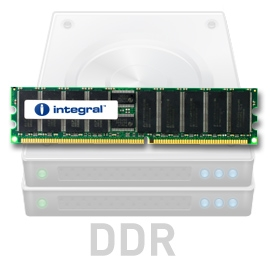 INTEGRAL 2GB (Kit 2x1GB) 400MHz DDR ECC CL3 R1 Registered DIMM 2.5V