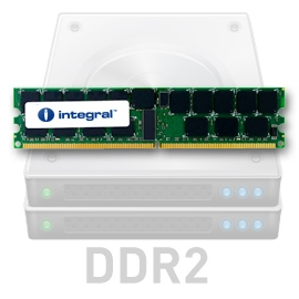INTEGRAL 8GB (Kit 2x4GB) 533MHz DDR2 ECC CL4 R2 Registered DIMM 1.8V