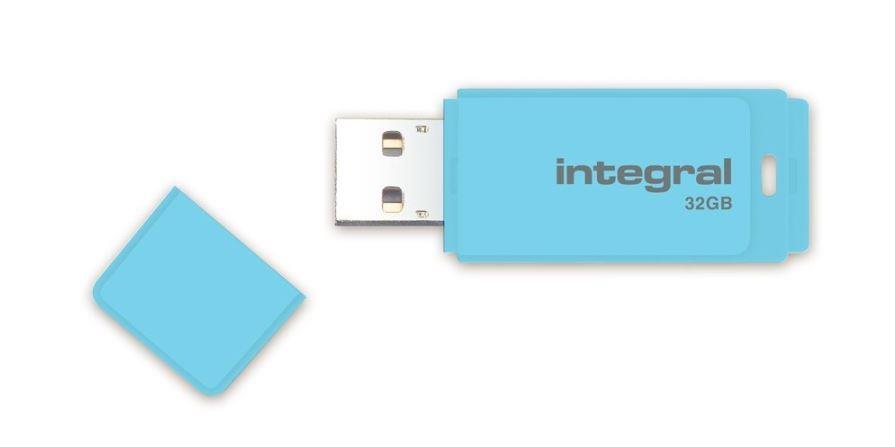 INTEGRAL Pastel 32GB USB 3.0 flashdisk, Blue Sky(čtení až 80MB/s;zápis až 9MB/s)