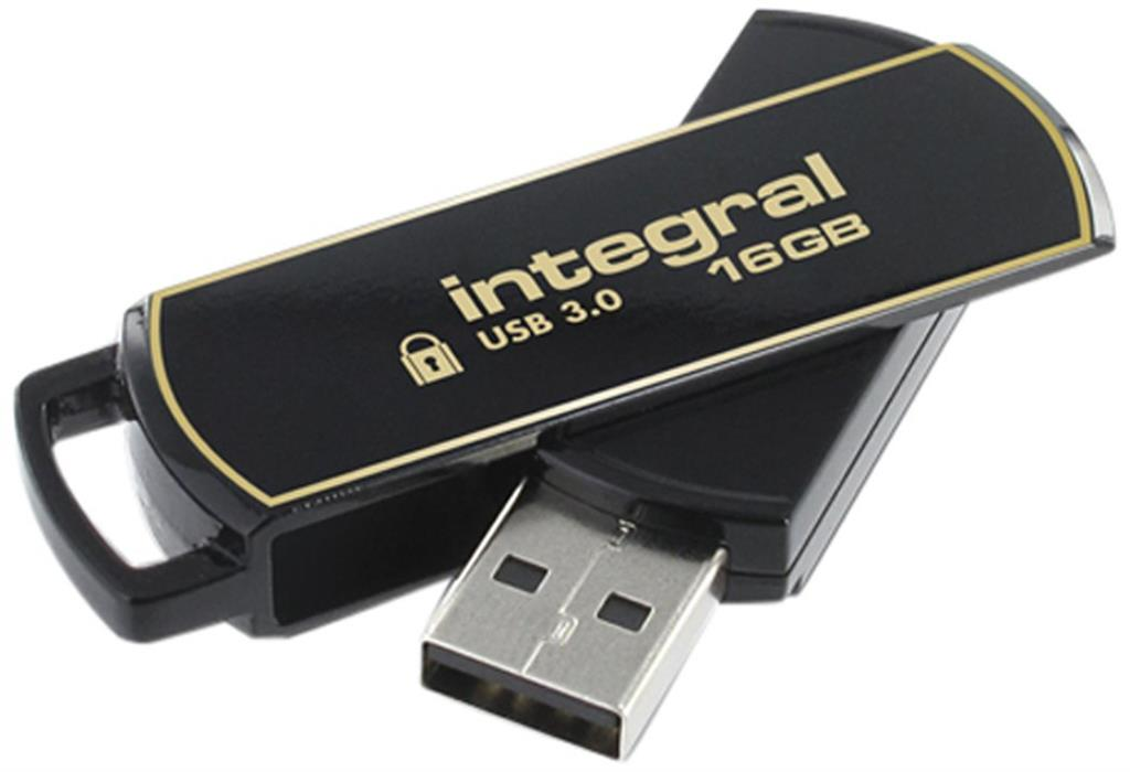 Integral flash disk 16GB AES-256 bit SecureLock 360 secure USB3.0