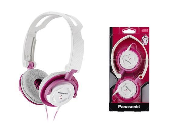 Sluchátka Panasonic RP-DJS150E-P, růžová