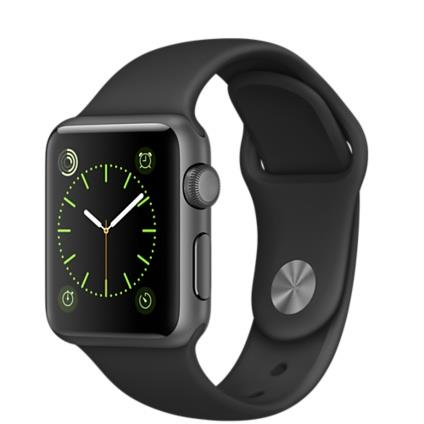 Apple Watch Sport 38mm Space Grey Aluminium Case with Black Band