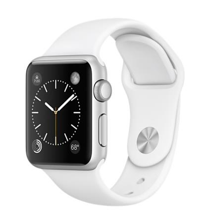 Apple Watch Sport 38mm Silver Aluminium Case with White Band