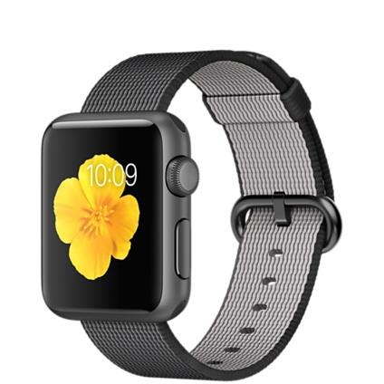 Apple Watch Sport 38mm Space Grey Aluminium Case with Black Woven Nylon