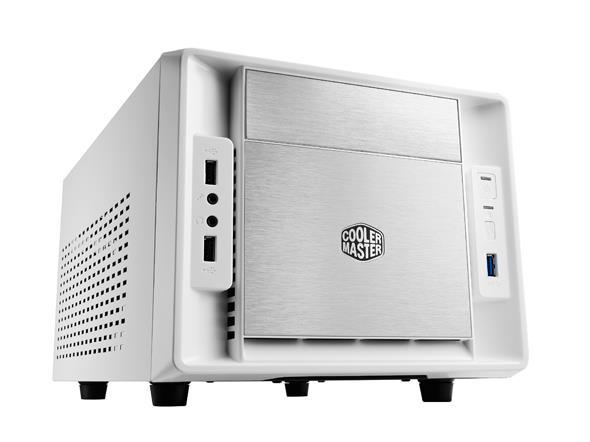 Cooler Master PC skříň Elite 120 Advanced mini ITX, bílá (bez zdroje - ATX)