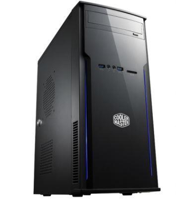 Cooler Master PC skříň Elite 241, USB 3.0, čtečka SD karet, 80 mm ventilátor (be