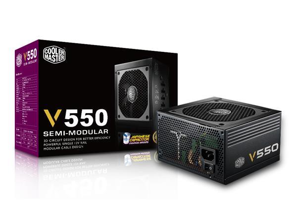 Cooler Master zdroj V550 Semi-modular 550W, 80 Plus Gold