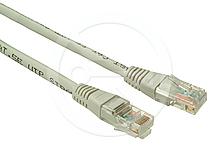 Solarix Patch kabel CAT5E UTP PVC 3m šedý C5E-155GY-3MB bez hrdla
