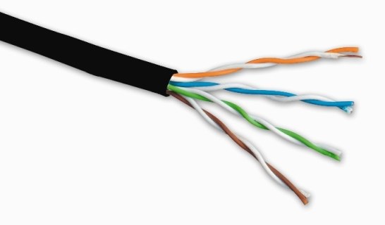 Solarix venkovní instalační kabel CAT5e UTP drát PE 305m/box