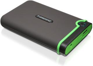 Transcend StoreJet 25M3 1TB ext. HDD 2.5'' USB 3.0, SW Elite, anti-shock, černý
