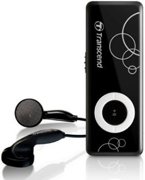 Transcend MP300 MP3 přehrávač 8GB, černý