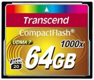 Transcend Compact Flash karta 64GB 1000x, pro průmysl. využití