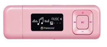 Transcend MP330 8GB MP3 přehrávač s FM rádiem, 1'' OLED displej 128x32, růžový