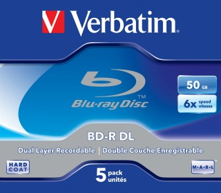 Verbatim Blu-ray BD-R Dual Layer [ jewel case 5 | 50GB | 6x | Scratchguard Plus]