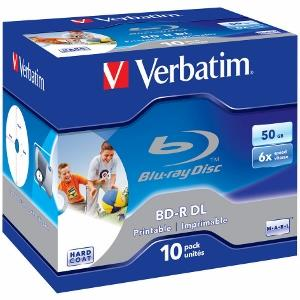 Verbatim Blu-ray BD-R Dual Layer [ jewel case 10 | 50GB | 6x| printable ]