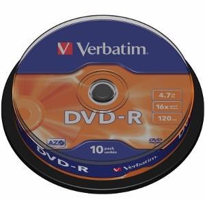 Verbatim DVD-R [ cakebox 10 | 4.7GB | 16x | matte silver ]