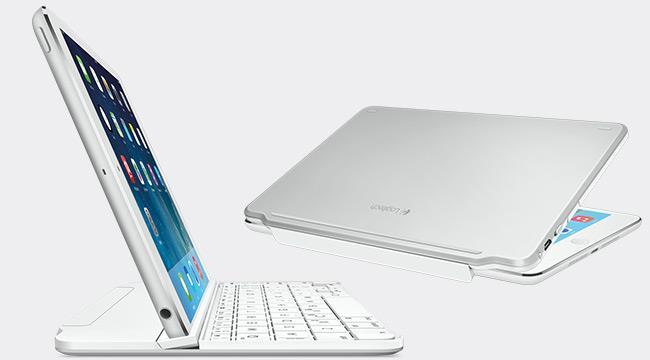 Logitech magnetický kryt klávesnice pro iPad mini - stříbrný
