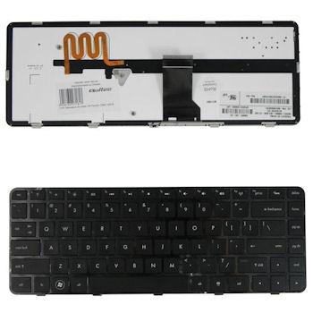 Qoltec Klávesnice pro notebook HP Pavilion DM4-1000 Black (podsvícená)