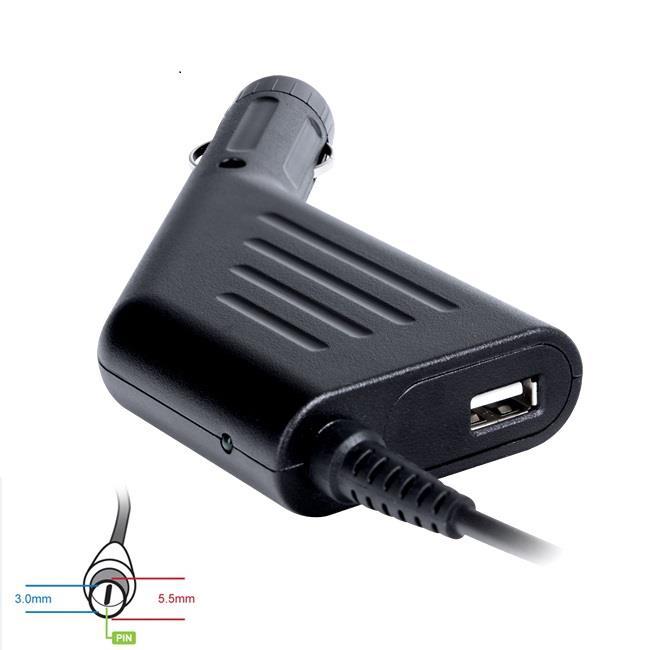 Digitalbox napájecí adaptér do auta pro Samsung 19V/4.74A 90W, (5.5x3.0+pin) USB