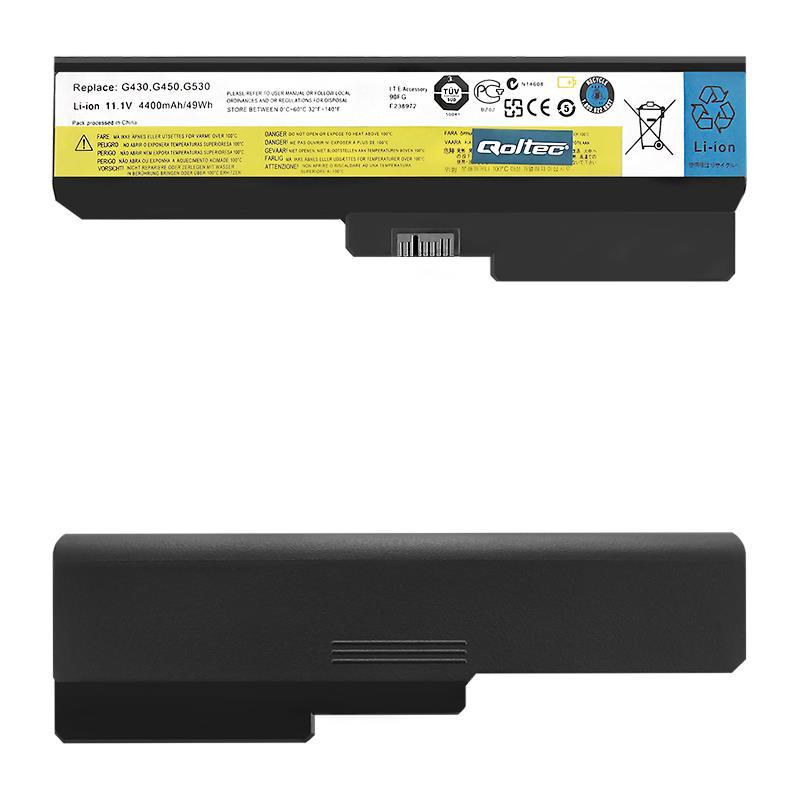 Qoltec Long Life baterie pro notebook Lenovo B550 G530 G550 G555 11.1 V 4400 mAh