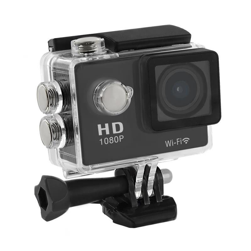 2.0'' Waterproof Sports Camera Full HD QOLTEC for helmet/bike   Wi-Fi   black