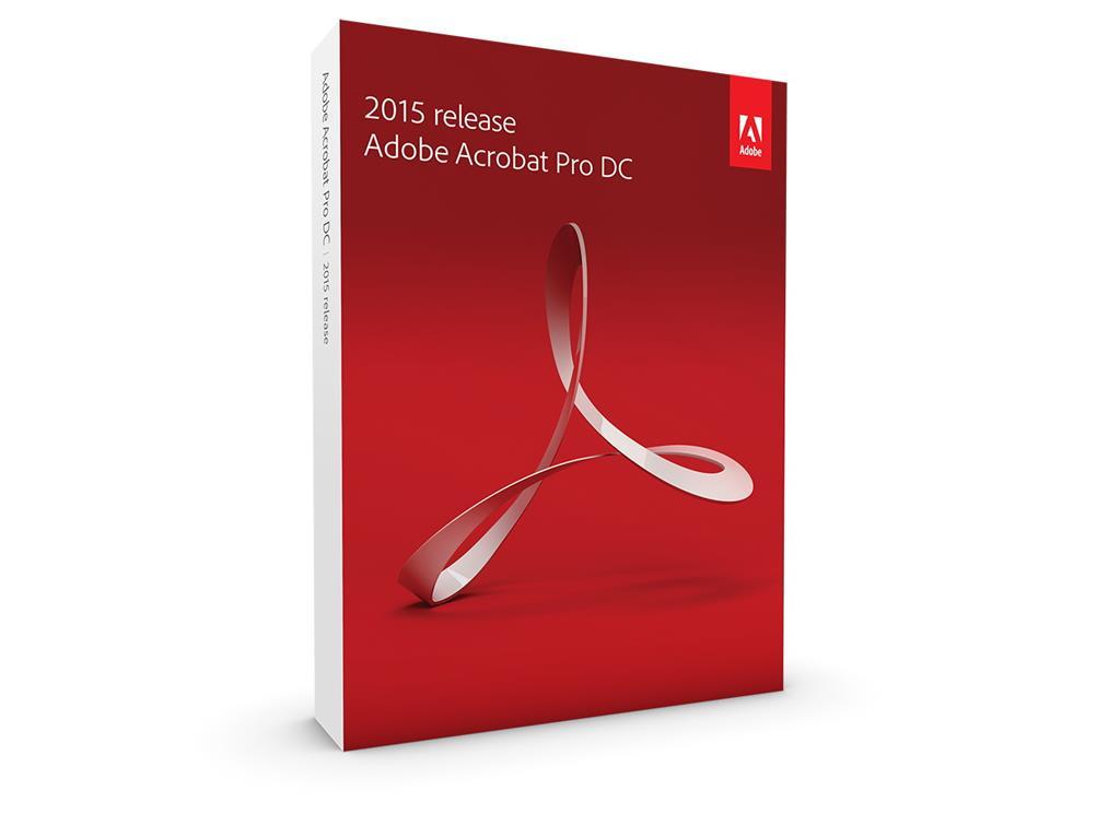Adobe Acrobat Pro DC v2015, Win, Czech, Retail, 1 User