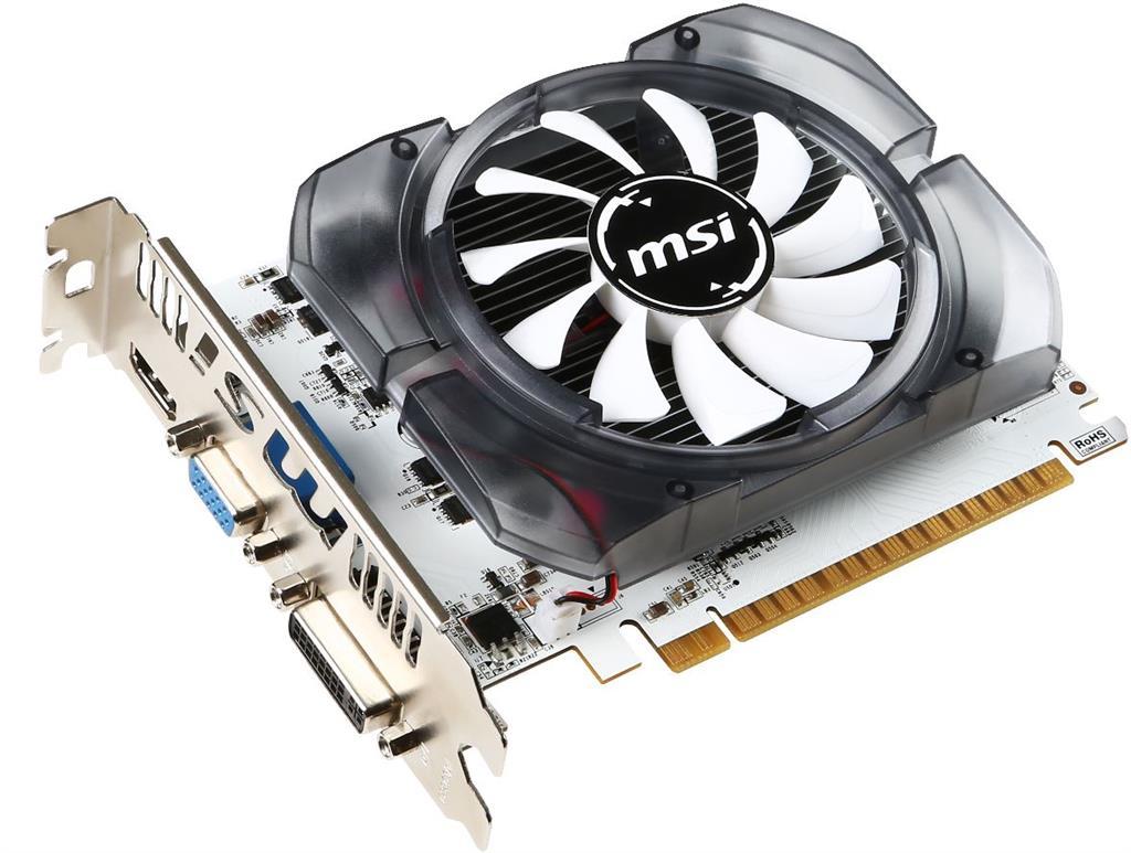 MSI GeForce GT 730 V2, 4GB DDR3 (128 Bit), HDMI, DVI, D-Sub