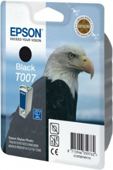Inkoust Epson T007 black | Stylus Photo 790/870/875DC/890/895/900/915/1270/1290.