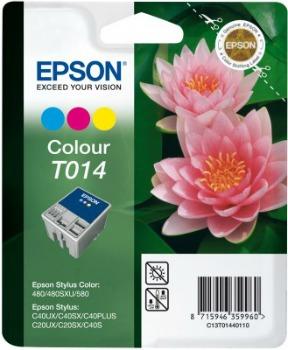 Inkoust Epson T014 color   Stylus C20SX/20UX/40SX/40UX; Stylus Color 480/580