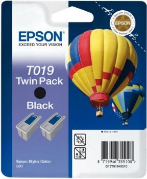 Inkoust Epson T019 black Doublepack   Stylus Color 880