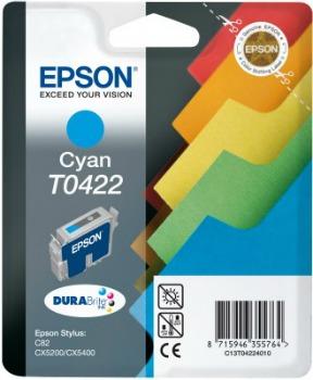 Inkoust Epson T0422 cyan | Stylus C82/82N,CX5200/5400