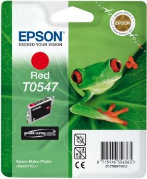 Inkoust Epson T0547 red   Stylus Photo R800/1800