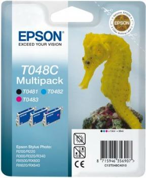 Bundle Epson T048C C/M/K MultiPack | Stylus Photo R200/220/300/320/340,RX500/...