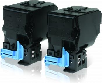 Toner Epson AcuBrite black double-pack   6000strx2   AcuLaser C3900DN