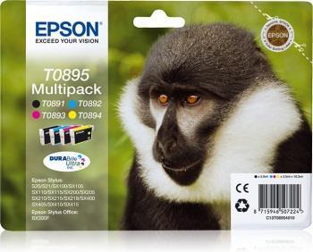 Bundle Epson T0895 CMYK MultiPack DURABrite | Stylus SX100